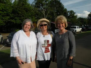 Rep. Debra Moody, Pat Ennis, and Charlotte Kelley at the TCRP Community Rally.